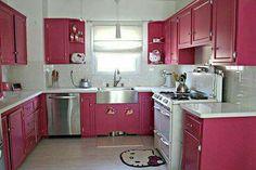 ... Rosa Hello Kitty, Rosa Spielküche, Küchenfotos, Küchensachen, Ideen,  Gatos, Rosa Küchen, Regalkonsolen, Blumenvasen, Organisationstipps, Trautes  Heim, ...