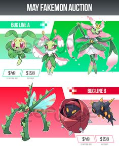 May Fakemon Auction by zerudez