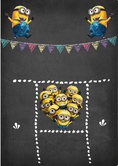 Hoja Minion Invitation, Minion Birthday Invitations, Party Invitations, Invitation Templates, 1st Boy Birthday, Birthday Parties, Batman Minion, Foto Transfer, Murals For Kids