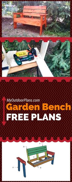 Easy to follow plans for you to build a garden bench - Free plans and step by step instructions for a 2x4 outdoor bench! howtospecialist.com