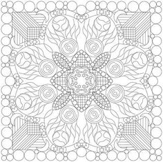 """A quilting design that could be used as a miniature (16"""") wholecloth or an embroidery piece. The full pattern is at PatternSpot by Shawkl. My blog is at Shawkl.com if you'd like to see more of my work."""