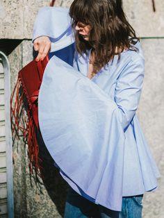 a7c548c9ec93c sensational sleeves. Irina in Ellery in Milan.  APortablePackage. yaLOOK