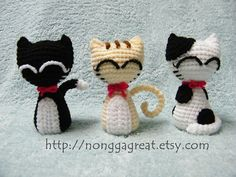 PDF Crochet Pattern  Little Cats by nonggagreat on Etsy, $3.50
