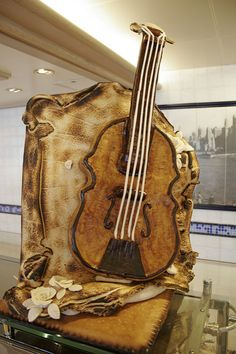 Violin Bread Sculpture