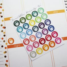30 Spa Face Mask Die-Cut Stickers // Perfect by ScribblePrintsCo