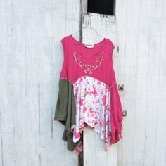 large - xlarge - Romantic  / Upcycled clothing / Patchwork Dress / Funky Tunic Dress / Eco Dress / Artsy Dress by CreoleSha