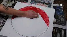 How to make string art wall decor - YouTube