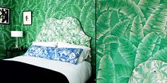 de Gournay fabrics & wallcoverings are among the finest in the world. This leafy backdrop is just stunning.