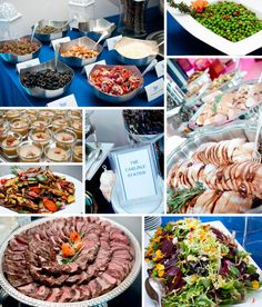 Winter Food Stations at a Wedding