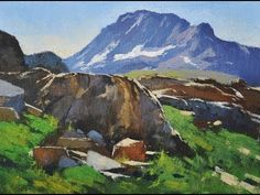 WHAT WILL I LEARN FROM THIS VIDEO? Painting rocks and mountains is a great video where I will combine two of these wonderful subjects into one painting.  Often painters have problems simplifying these difficult shapes in nature but I will show you it is not as hard as it seems.  Gabor #Svagrik