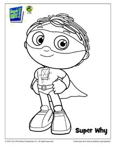 SUPER WHY Coloring Book Pages | Parents, Books and Birthdays