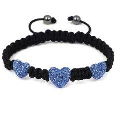 Swarovski Crystal Shamballa ball beads 3pcs Blue  ($9.99)