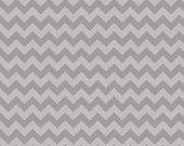 ON SALE 1 yard Riley Blake Gray tone on tone Small Chevron Print