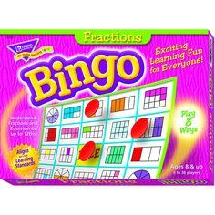 BINGO FRACTIONS AGES 10 & UP