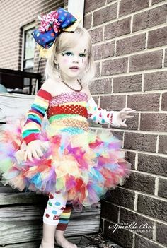 Clown Costume Petti Tutu set plus legwarmers and by YourSparkleBox, $74.95