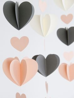 put two hearts together & sew down the middle, separate to make a 3-d effect