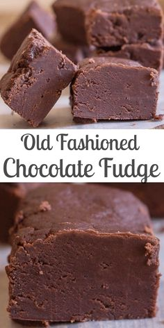 Old Fashioned Chocolate Fudge, creamy and slightly crumbly this melt in your mouth Chocolate Fudge is the Best! Old Fashioned Chocolate Fudge, creamy and slightly crumbly this melt in your mouth Chocolate Fudge is the Best! Chocolate Candy Recipes, Chocolate Peanut Butter Fudge, Homemade Chocolate, Easy Chocolate Fudge, Homemade Fudge Easy, Chocolate Candies, Cooking Chocolate, German Chocolate, Chocolate Chocolate