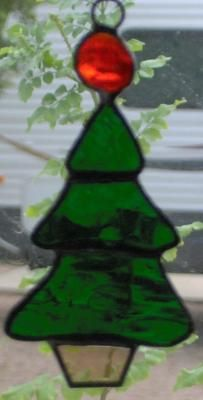 Stained Glass Christmas Ornament - Serenity Grace Designs