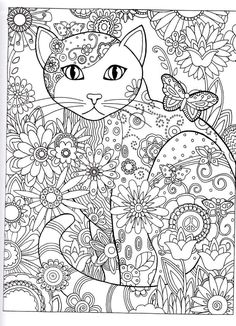 cat Abstract Doodle Zentangle Coloring pages colouring adult detailed advanced printable Kleuren voor volwassenen coloriage pour adulte anti-stress Gatos para Colorir
