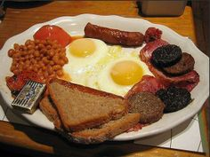 Classic British breakfast