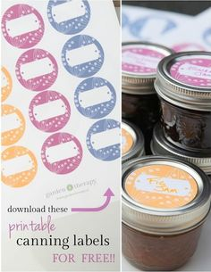 Download These Free Printable Canning Labels from Garden Therapy - Berry Design in Three Colours