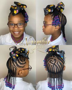 """Hi, here are some """"Unique Braided Hairstyles for Kids."""" They are all a perfect hairstyle with a perfect fitting. Boy Braids Hairstyles, Unique Braided Hairstyles, Braided Hairstyles For School, Black Kids Hairstyles, Kids Box Braids, Braids For Boys, Little Girl Braids, Braids For Black Hair, Kid Braid Styles"""