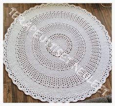 Tunisian Crochet, Crochet Yarn, Fingerless Gloves, Rugs, Knitting, Korit, Diy, Home Decor, Round Shag Rug