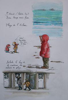 gr34 - Le blog de yal Watercolor Video, Watercolor Sketchbook, Artist Sketchbook, Watercolor And Ink, Sketch Journal, Art Journal Pages, Art Journals, Figure Sketching, Urban Sketching