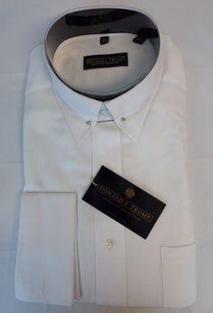 Donald J Trump White Shirt Men Button 16 1/2 32 33 Signature Collection NEW #DonaldTrump #ButtonUp