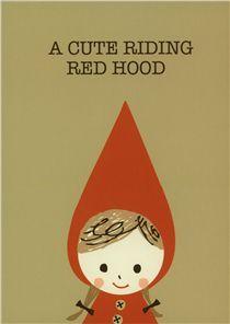 Shinzi Katoh fairy tale postcard cute Red Riding Hood