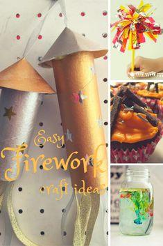 easy firework crafts for kids 11 Firework and Bonfire Night crafts for kids Happy Birthday Fireworks, How To Make Fireworks, Fireworks Craft For Kids, Quick And Easy Crafts, Easy Paper Crafts, Easy Crafts For Kids, Summer Crafts, Autumn Crafts, Sparklers Fireworks