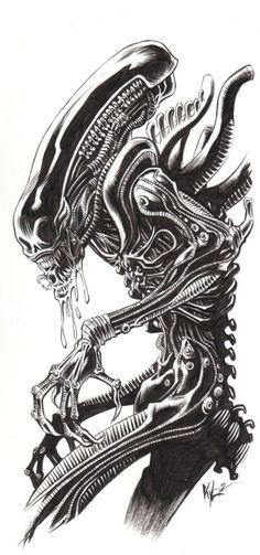Kyle Hotz - Alien Comic Art