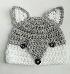 Wolf Hat Woodlands Animal Handmade Crochet Hat Hat by TheFreckledPurl on . - # crochet # hat Wolf Hat Woodlands Animal Handmade Crochet Hat Cap by TheFreckledPurl . Crochet Wolf, Crochet Animal Hats, Crochet Kids Hats, Crochet Cap, Crochet Amigurumi, Crochet Beanie, Knitted Hats, Crochet Gifts, Wolf Hat