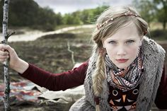 Beatrice Heydiri for Collezioni Magazine with a tribal woodland vibe for winter 2012 kidswear
