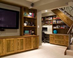 Modern Basement Photos Office Design Ideas, Pictures, Remodel, and Decor