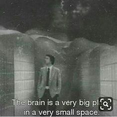 """""""The brain is a very big place, in a very small space"""" -Carl Sagan Pretty Words, Beautiful Words, Beautiful Pictures, Movie Lines, Carl Sagan, Film Quotes, Quotes Quotes, Quote Aesthetic, Some Words"""