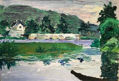 bofransson: Wassily Kandinsky Paysage avec pont (love the greens and blues) Franz Marc, Matisse, Wassily Kandinsky Paintings, Post Impressionism, Art Abstrait, Russian Art, Caravaggio, Beautiful Paintings, Oeuvre D'art