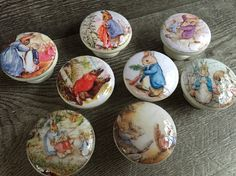A personal favorite from my Etsy shop https://www.etsy.com/listing/221667361/8-drawer-knobs-pulls-hand-decorated