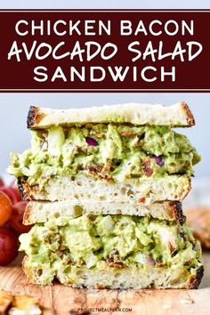 Chicken Bacon Avocado Salad Sandwich – PMP Posts and Recipes – … Chicken Bacon Avocado-Salat-Sandwich – PMP Beiträge und Rezepte – Bacon Avocado, Avocado Salat, Avocado Toast, Avocado Recipes, Chicken Bacon, How To Cook Chicken, Salat Sandwich, Healthy Sandwiches, Healthy Sandwich Fillings