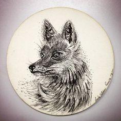 BY TATIANA GOMEZ ZAPATA #illustration #drawing #fox #animals #rapidografo