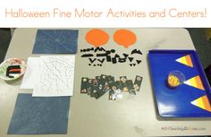 Halloween Fine Motor Center This website has great center ideas for Halloween. LOVE!!!!
