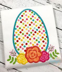 Egg Flowers Applique