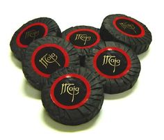 Gothy-looking soap -MAJA Perfumed Round Soap 25 g Gift Sleeve of 5 Bars - great wedding favors for your goth wedding