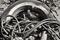 Tire And Hose  Abandonment: An Abandoned Home - Mojave, California