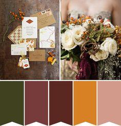 P. P. Writes: Autumn Wedding Inspiration | onefabday.com @Hillary Platt Bandley Platt Bandley Dotson