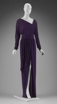 Woman's dress in two parts (dress and sash), Designed by Roy Halston Frowick, American, about 1975. Museum of Fine Arts, Boston.