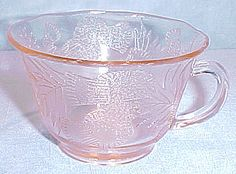 Thistle by MacbethEvans Pink Depression Glass Cup by JaneEllen2, $28.00