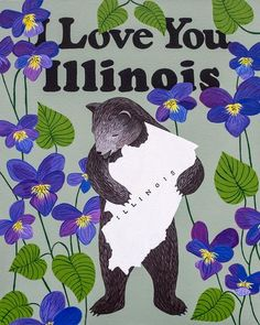 """I Love You Illinois"" Print"
