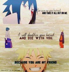 Awwwwww Naruto is such a good friend. I wish I had friends like him :)