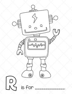 ausmalbild: karrikatur roboter | ausmalbilder kostenlos zum ausdrucken | ausmalbilder, ausmalen